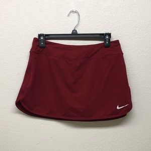 Maroon Nike Dri-Fit Tennis Skirt